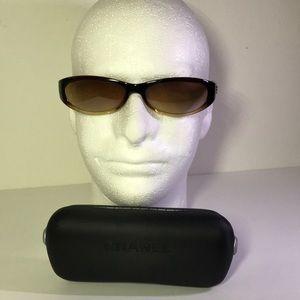 Vtg Chanel Italy Sunglasses Brown